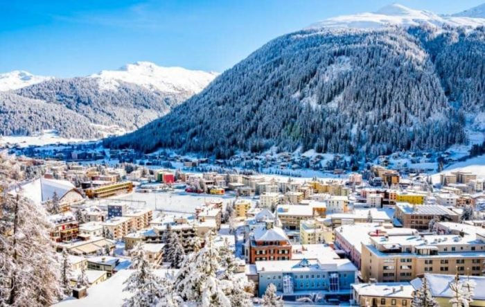 Давос деревня сноубордистов